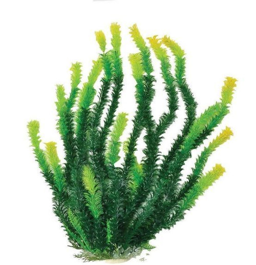 Aquatop Bushy Aquarium Plant With Weighted Base, Green