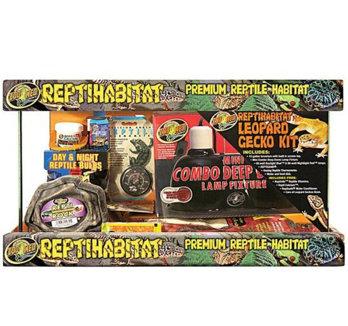 Zoo Med Reptihabitat Premium Habitat Leopard Gecko Kit, 10 Gallon