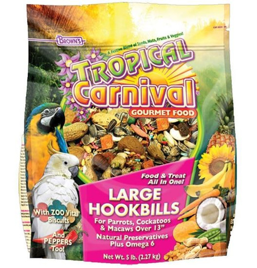 Tropical Carnival Gourmet Large Hookbill Food, 5 Lbs.