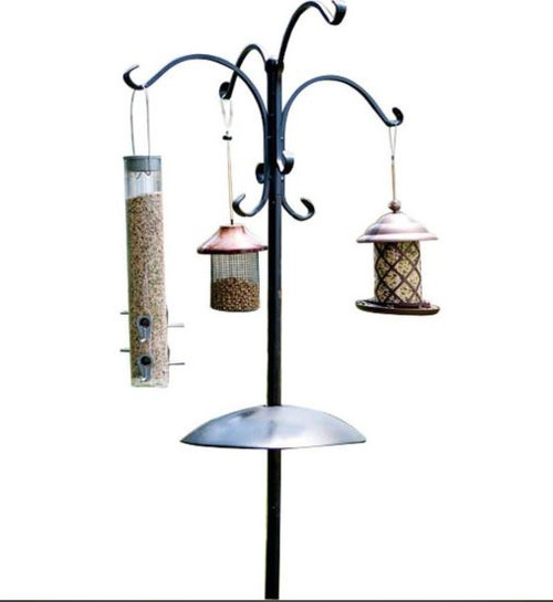Audubon Four Way Bird Feeding Station W/Squirrel Baffle
