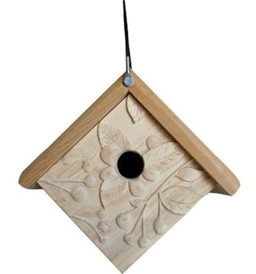 Welliver Outdoors Carved Raspberry Wren House