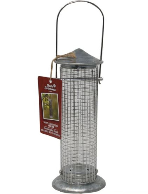 Audubon Rustic Farmhouse Silo Mesh Sunflower Seed Feeder