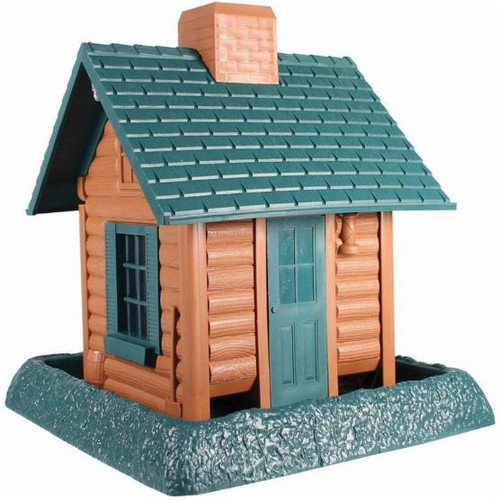 Village Collection Log Cabin Bird Feeder
