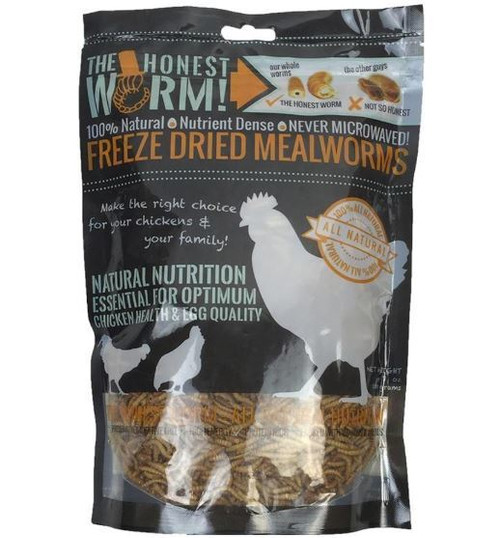 The Honest Worm Premium Freeze Dried Mealworms