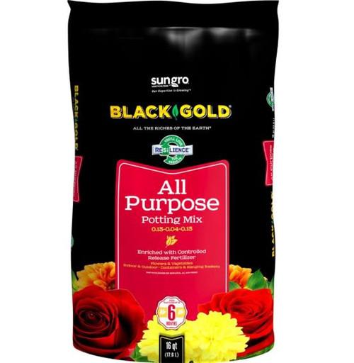 Sun Gro Black Gold All Purpose Potting Mix W/CRF