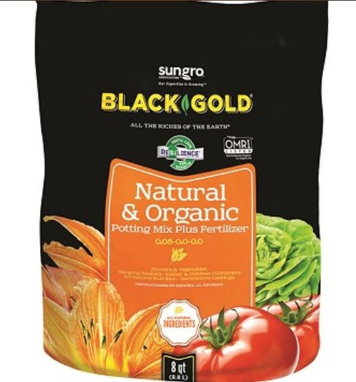 Sun Gro Black Gold Natural & Organic Potting Mix Plus Fertilizer