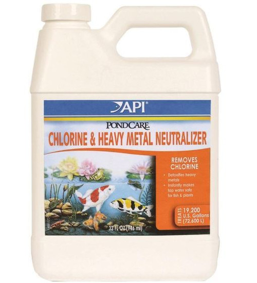 API Pondcare Chlorine And Heavy metal Neutralizer, 32 oz.