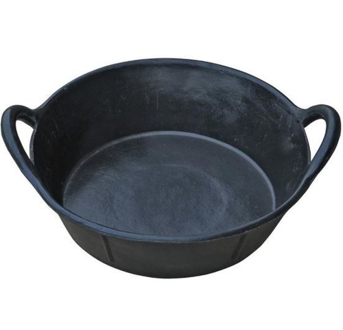 Little Giant Rubber Pan With Handles, 3 Gallon, Black