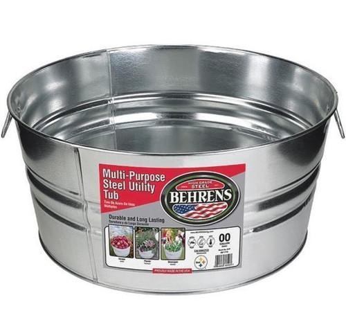 Behrens Multi-Purpose Galvanized Steel Utility Tub, 15 Gallon, Steel