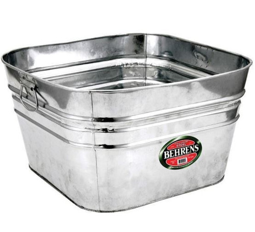 Behrens Hot Dipped Square Steel Tub, 15.5 Gallon