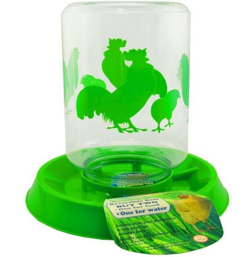 Lixit Chicken Feeder/Waterer Combo, 64 oz., Green