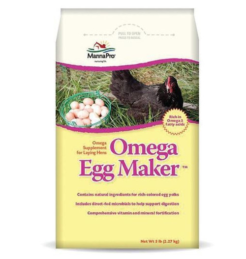 Manna Pro Omega Egg Maker Supplement For Laying Hens, 5 Lbs.