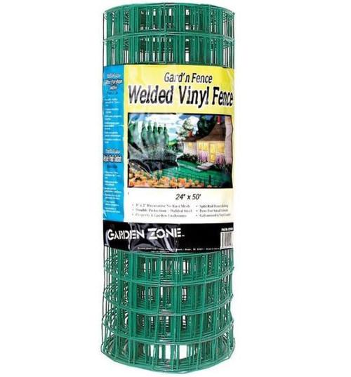 Garden Zone Heavy Duty Mesh PVC Fence, Green