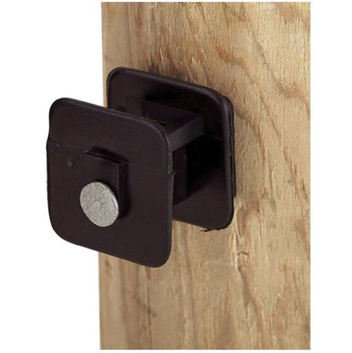 Dare Black Widow Insulator For Wood Post, 25 Pack, Black