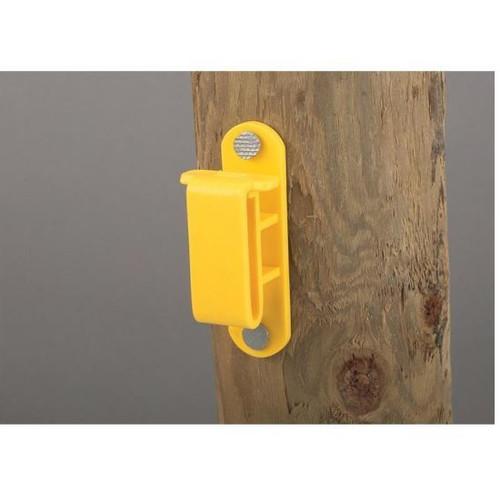 Dare Wood Post Tape Insulator, 25 Pack, Yellow