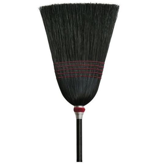 "Nexstep Parlor 100% Black Corn Broom, 12"""