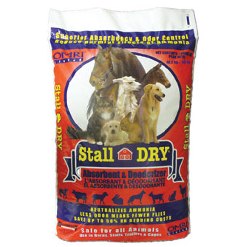 Stall Dry Absorbent & Deodorizer For Animals, 40 Lbs.