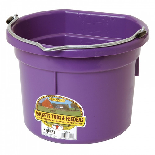Little Giant Flat Back Bucket, 8 Qt., Purple