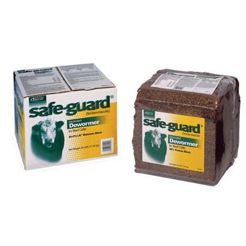 Safe-Guard Medicated Dewormer Block, 25 Lbs.