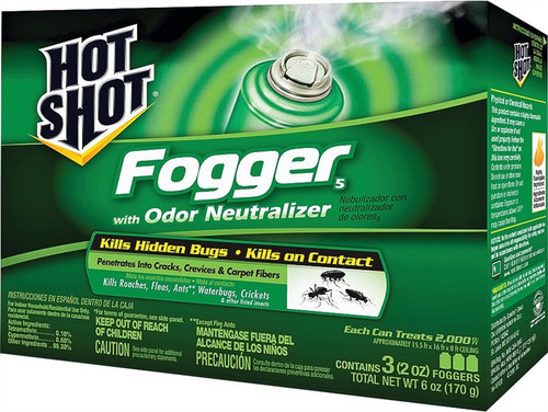 Hot Shot Fogger With Odor Neutralizer, 3 Pack