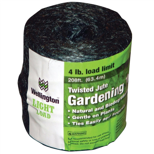 Wellington Light Load 1-Ply Twisted Jute Gardening Twine, Green