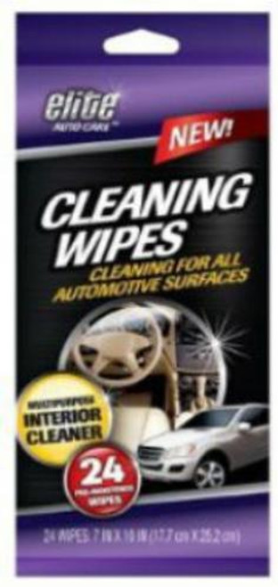 Elite Auto Care Automotive Cleaning Wipes, 24 Pack