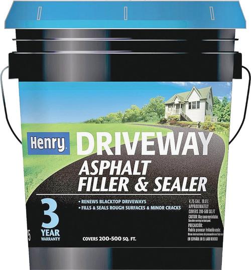 Henry Driveway Asphalt Filler & Sealer, 5 Gal. Pail, Black