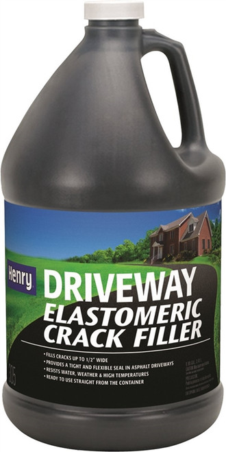 Henry Driveway Elastomeric Crack Filler, 0.9 Gal. Jug, Black