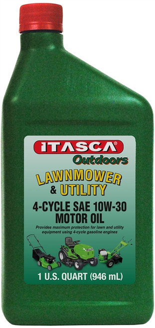 Itasca Outdoors Lawnmower & Utility 4-Cycle SAE10W-30 Motor Oil, 1 Qt.