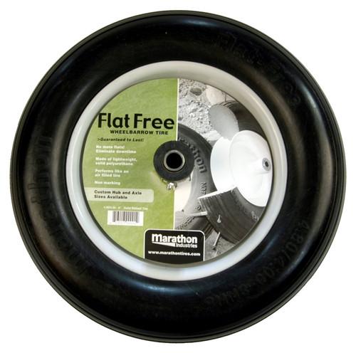 Marathon Flat Free Wheelbarrow Polyurethane Tire