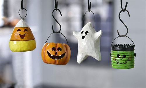 GiftCraft Halloween Carved Ornaments