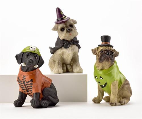 GiftCraft Halloween Dog Figurines