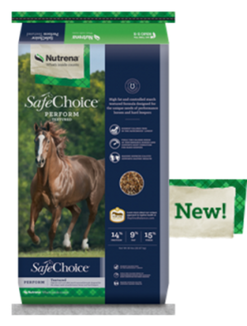 Nutrena SafeChoice Perform Textured Horse Feed, 50 Lbs.