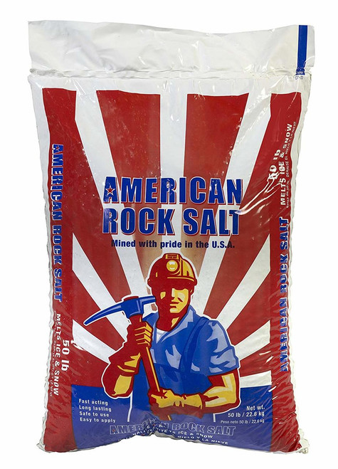 Halite Snow and Ice Melt Rock Salt, 50 Lbs.