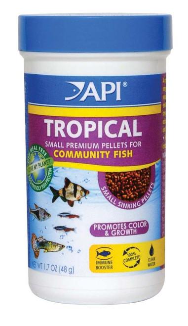 API Mini Tropical Premium Pellets, 1.7 Oz.