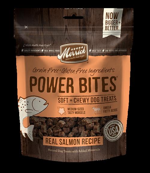 Merrick Power Bites Salmon Flavor Dog Treats, 6 Oz.