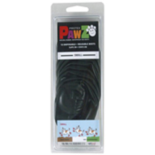 Pawz Water-Proof Disposable Dog Boots, Large, 12 Pack Black