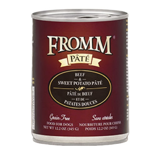 Fromm Grain Free Beef & Sweet Potato Pate Canned Dog Food, 12.2 Oz.