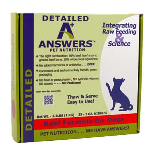 Answers Detailed Formula Frozen Beef Nibbles, 2.2 Lbs.