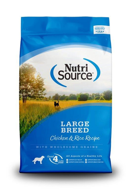 NutriSource Large Breed Adult Chicken & Rice Formula Dry Dog Food, 30 Lbs.