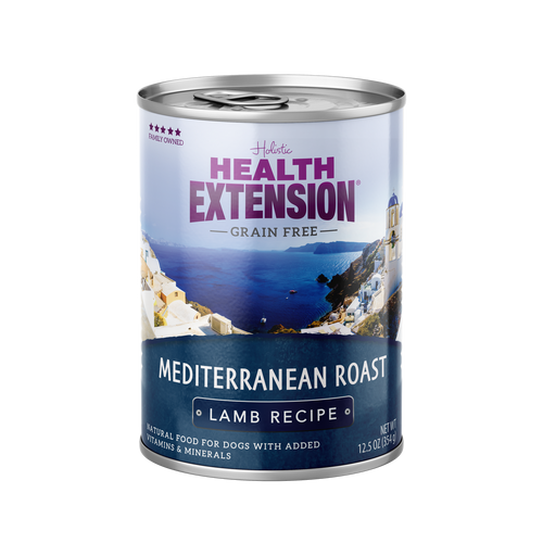 Health Extension Grain Free Mediterranean Roast Lamb Recipe Canned Dog Food, 12.5 Oz.