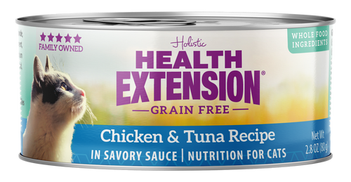Health Extension Grain Free Chicken & Tuna Recipe Canned Cat Food, 2.8 Oz.