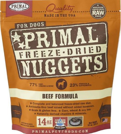 Primal Grain Free Freeze-Dried Beef Nuggets Dog Food, 14 Oz.