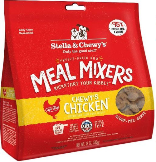 Stella & Chewy's Freeze-Dried Chicken Meal Mixers Dog Food, 18 Oz.