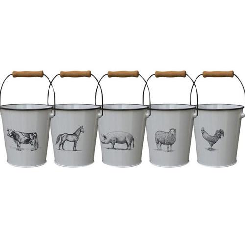 "Panacea Milkhouse Vintage Farm Animal Planters, 7.5"""