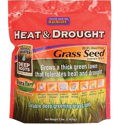 Bonide Heat And Drought Grass Seed, 3 Lbs.