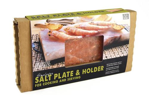 Charcoal Companion Himalayan Salt Plate & Book Grill Set