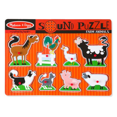 Melissa & Doug Farm Animals Sound Puzzle, 8 Pieces