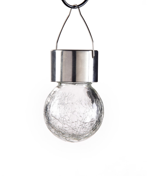 Giftcraft Hanging Crackled Glass Solar Light