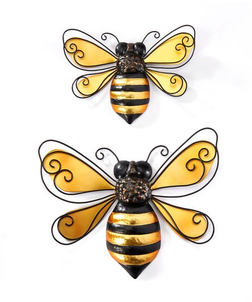 Giftcraft Metal Bee Wall Decor, Set Of 2